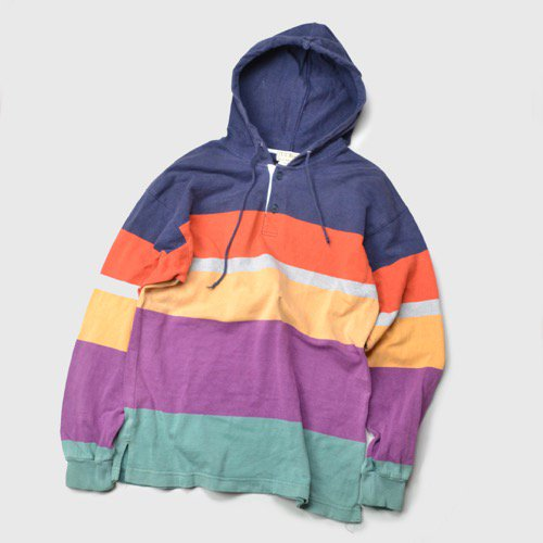 L.L.Bean Hooded Striped Rugby Jersey