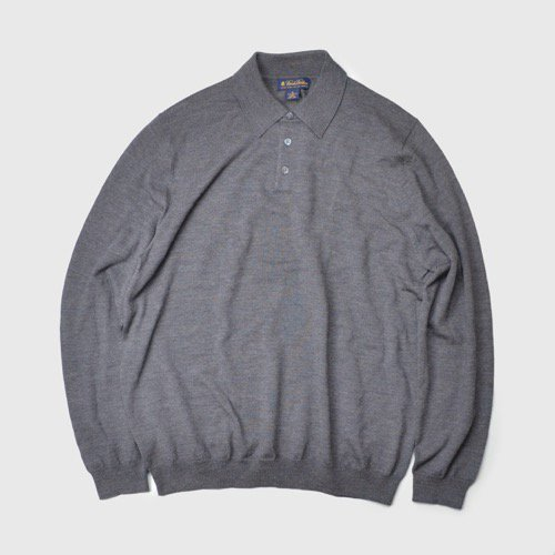 Brooks Brothers Merino Wool Long Sleeve Polo