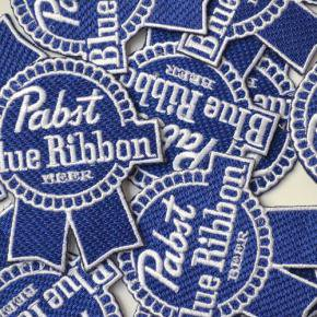 Pabst(パブスト)Blue Ribbon Logo Patches Deadstock