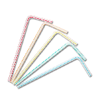 裸/5色フレックスストロー[500本]