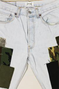 <img class='new_mark_img1' src='https://img.shop-pro.jp/img/new/icons16.gif' style='border:none;display:inline;margin:0px;padding:0px;width:auto;' />COTEMER×YSM EXCLUSIVE REMAKE LEVI'S MILITARY DENIM SHORTS 【L.IND】