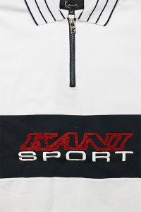 <img class='new_mark_img1' src='https://img.shop-pro.jp/img/new/icons16.gif' style='border:none;display:inline;margin:0px;padding:0px;width:auto;' />KARL KANI SPORTS S/S HALF ZIP TEE 【WHT/NVY/RED】