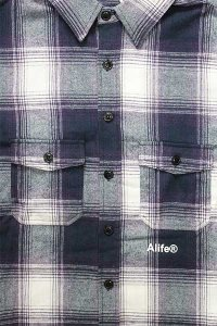 <img class='new_mark_img1' src='https://img.shop-pro.jp/img/new/icons16.gif' style='border:none;display:inline;margin:0px;padding:0px;width:auto;' />ALIFE FLANNEL SHIRTS【PUR/WHT】