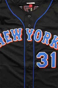 <img class='new_mark_img1' src='https://img.shop-pro.jp/img/new/icons16.gif' style='border:none;display:inline;margin:0px;padding:0px;width:auto;' />MITCHELL&NESS AUTHENTIC WORLD SERIES BASEBALL JERSEY METS【BLK/BLU/ORG】