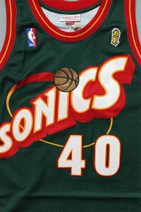 <img class='new_mark_img1' src='https://img.shop-pro.jp/img/new/icons16.gif' style='border:none;display:inline;margin:0px;padding:0px;width:auto;' />MITCHELL&NESS AUTHENTIC JERSEY SONICS KEMP 【D.GRN/RED】