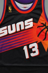 <img class='new_mark_img1' src='https://img.shop-pro.jp/img/new/icons16.gif' style='border:none;display:inline;margin:0px;padding:0px;width:auto;' />MITCHELL&NESS AUTHENTIC JERSEY SUNS NASH【BLK/PUR/ORG】