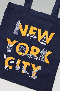 <img class='new_mark_img1' src='https://img.shop-pro.jp/img/new/icons16.gif' style='border:none;display:inline;margin:0px;padding:0px;width:auto;' />MAPTOTE NEW YORK CITY TOTE BAG DENIM【IND/ORG】