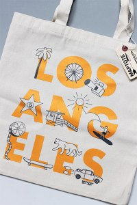 <img class='new_mark_img1' src='https://img.shop-pro.jp/img/new/icons16.gif' style='border:none;display:inline;margin:0px;padding:0px;width:auto;' />MAPTOTE LOS ANGELES TOTE BAG【NAT/ORG】