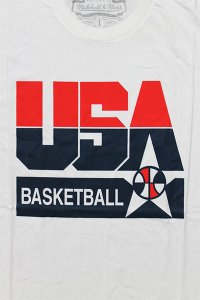 MITCHELL&NESS TEAM USA S/S TEE【WHT/RED】