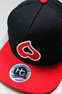 HEART CLOTHING SNAP BACK CAP【BLK/RED】