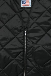SNAP'N'WEAR QUILTED NYLON VEST【BLK】