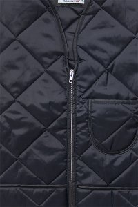SNAP'N'WEAR QUILTED NYLON VEST【NVY】