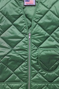 SNAP'N'WEAR QUILTED NYLON VEST【GRN】