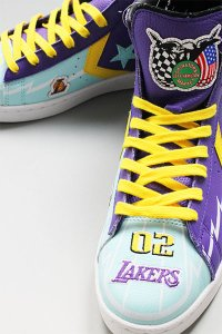 CHINATOWN MARKET×JEFF HAMILTON PRO LEATHER LAKERS【PUR/YEL】