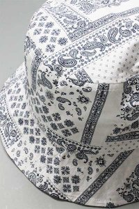re:new BUCKET HAT PAISLEY【WHT/NVY】