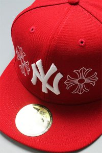 CANT CLOTHING CUSTOM 59FIFTY CHROME YANKEES【RED】