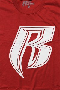 RUFF RYDERS S/S TEE R LOGO【RED/WHT】