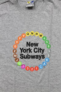 MTA SUBWAY ROUTE S/S TEE【GRY】