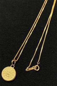 IN-PUT-OUT OPEN UP COOKIE NECKLACE【GOLD】