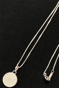 IN-PUT-OUT OPEN UP COOKIE NECKLACE【SILVER】
