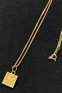 IN-PUT-OUT LOVE&FUCK NECKLACE【GOLD】