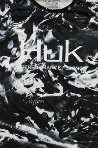 HUK MOSSY OAK L/S UV DRY TEE 【BLK/WHT】