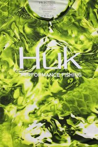 HUK MOSSY OAK L/S UV DRY TEE 【LIME/BLK】