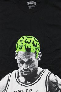 RODMAN BRAND OFFICIAL S/S TEE HAIR【BLK/LIME】