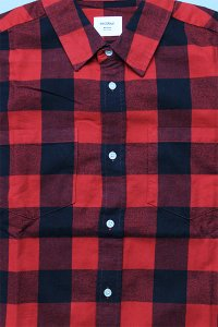 AS Colour L/S SHIRTS BLOCK CHECK【RED/BLK】