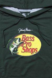 BassProShops PULL HOODIE LOGO【MOSS GRN】