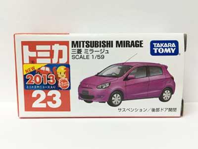トミカ NO.23 三菱 ミラージュ(中国製)(新車シール付き)TMC00425