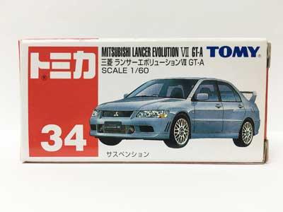 トミカ 34 三菱 ランサーエボリューションVII GT-A(中国製) TMC00474