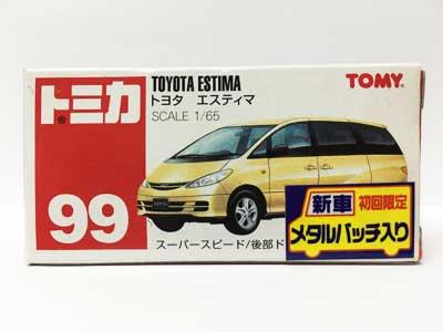 トミカ NO.99 トヨタ エスティマ(中国製)(新車シール付き)