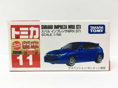 トミカ 11 スバル インプレッサWRX STI(新車シール付)(中国製)