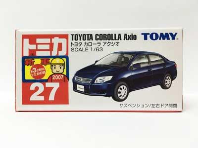 トミカ NO.27 トヨタ カローラ アクシオ(中国製)