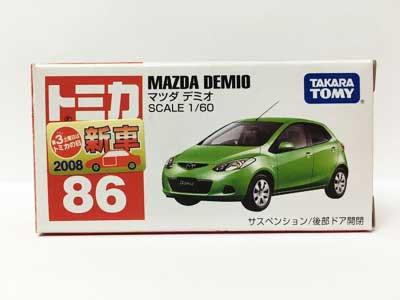 トミカ NO.86 マツダ デミオ(中国製)(新車シール付き )TMC00420