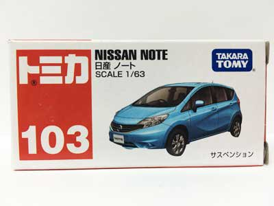 トミカ NO.103 日産 ノート(中国製)TMC00424