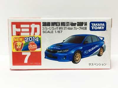 トミカ 7 スバル インプレッサ WRX STI 4door グループR4仕様(新車シール付) TMC00162
