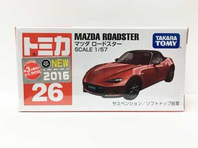 トミカ 26 マツダ ロードスター(新車シール付き) TMC00772