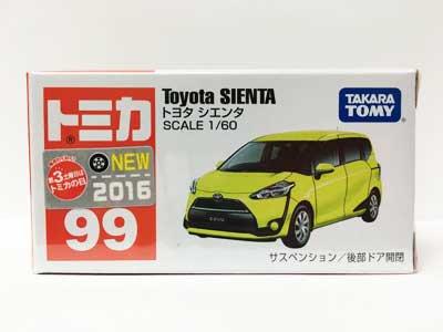 トミカ 99 トヨタ シエンタ(新車シール付) TMC00065