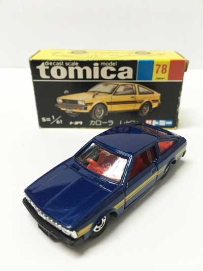 トミカ NO.78 トヨタ カローラ レビン 黒箱