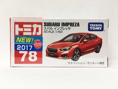 トミカ 78 スバル インプレッサ(新車シール付き) TMC00657