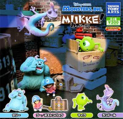 タカラトミー Disney Pixar MIIKKE/み〜いっけ! モンスターズインク 全4種フルセット TC0051