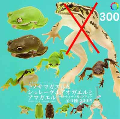いきもん ネイチャーテクニカラーMONO PLUS トノサマガエルとシュレーゲルアオガエルとアマガエル トノサマガエル無し5種セット TC0006