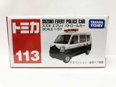 トミカ 113 スズキ エブリイ パトロールカー TMC00148