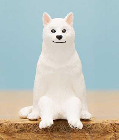キタンクラブ 座る犬 シロ TC0160