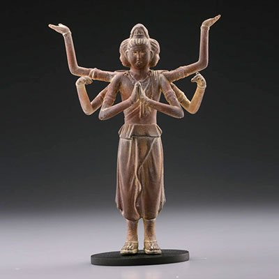 海洋堂 カプセルQミュージアム 日本の至宝 仏像立体図録 廻 阿修羅(木彫風) KG00129