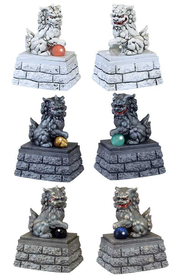 エール 開運 拒魔犬 -こまいぬ- 天然石付き 全6種フルセット TC00761 1枚目
