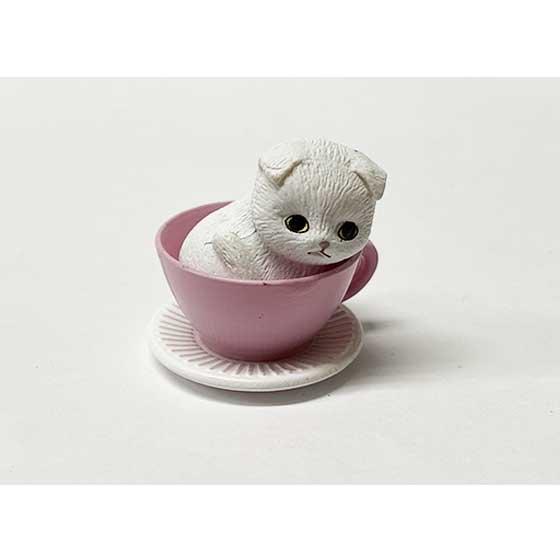 タカラトミーアーツ 猫カップ スコテッシュフォールド ホワイト TC00731