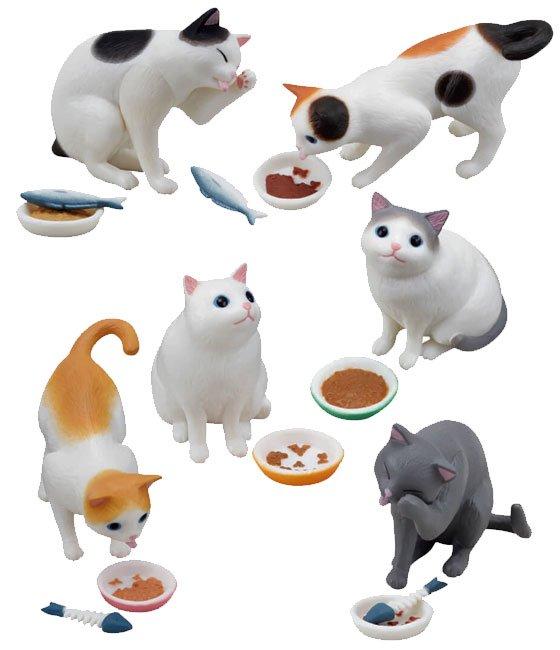 エポック きまぐれ猫ごはん 全6種フルセット TC00821 1枚目